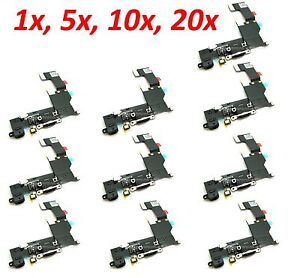 *LOT Charging port Dock Connector Audio Jack Flex Cable for iPhone 5s Black b121