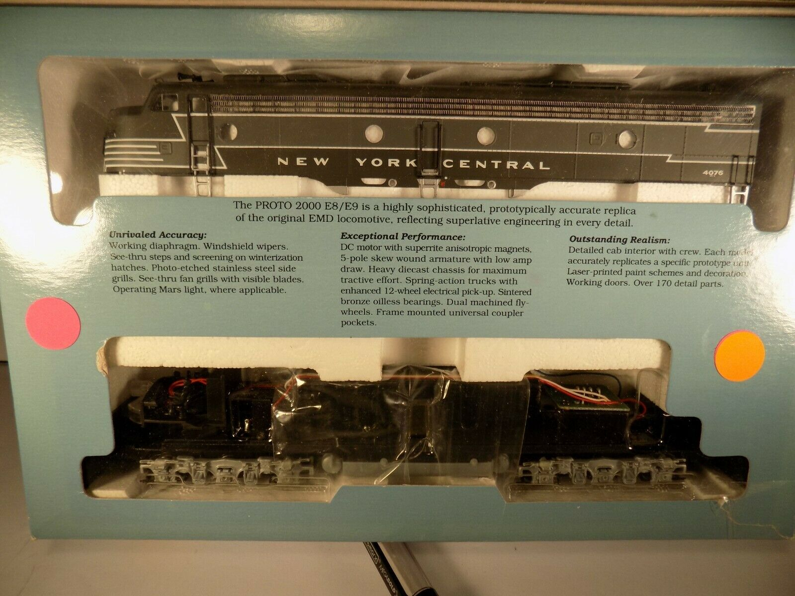 Ho Scale Proto 2000 E8 E9 New York Central  4076