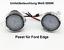 2x TOP LED SMD Runde Umfeldbeleuchtung Weiß Ford  Edge 7909