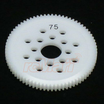 3Racing 48 Pitch Spur Gear 75T 1:10 RC Touring Car On Road #3RAC-SG4875