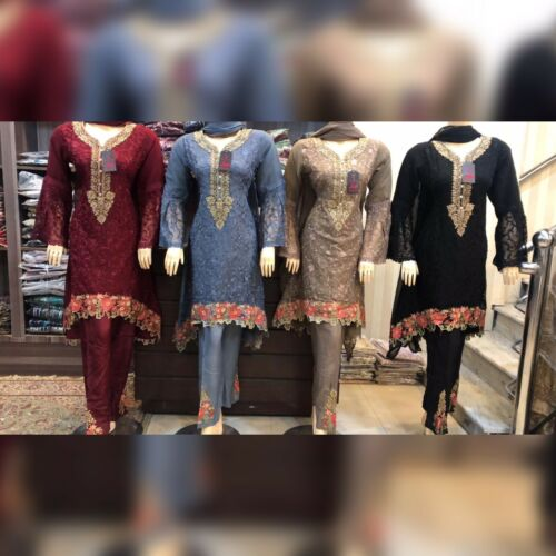 Pakistani Indian Chifoon Suit Tail Style