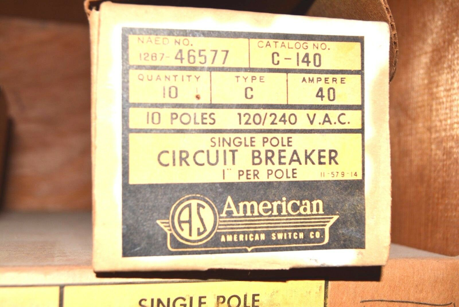 A115R Challenger American Switch 1 Pole 15 Amp 120//240 V Circuit Breaker