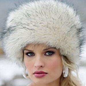 Luxury-Men-amp-Women-Eskimo-Warm-Winter-Hat-Lady-Beret-Baggy-Fur-Beanie-Bucket-Cap