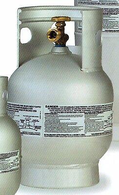 NEW 20LB ALUMINUM VERTICAL BBQ GRILL PROPANE TANK QCC POL LIGHTWEIGHT LPG MARINE