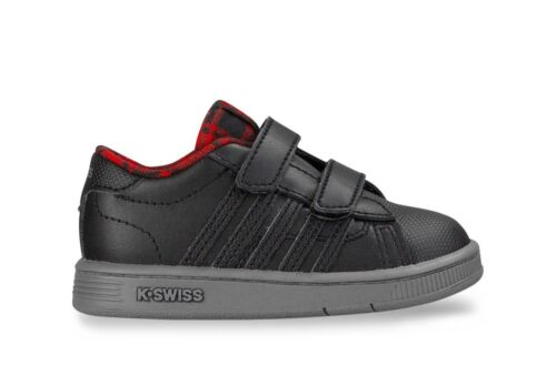 K-Swiss Hoke Strap Plaid Infants Sizes 1.5-9.5 Black RRP £35 BNIB 25112