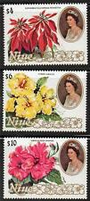 NIUE 1982 FLOWERS SC#332-34 MNH CV$24.75