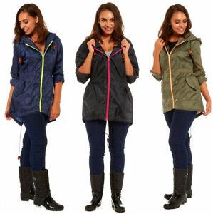 Ladies-Fishtail-Rain-Mac-Festival-Jacket-Coat-Showerproof-Kagool