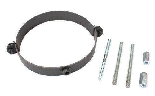 Rauchrohr considère bride de DN 180 mm cheminée taulard support acier nouveau gris colliers