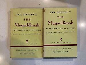 Ibn-Khaldun-Muqaddimah-Vol-2-amp-Vol-3-POOR-CONDITION-RARE-BOOKS-SEE-PICS