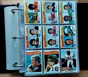 1975 Topps Football Complete Set Binder Pages Swann Theismann Pearson RC NRMT-MT
