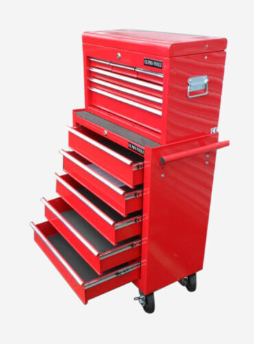 152  US PRO TOOLS RED AFFORDABLE TOOL CHEST ROLLCAB STEEL BOX ROLLER CABINET