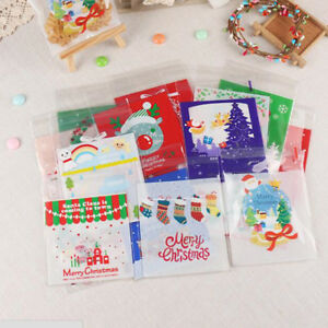 image is loading 100x christmas cellophane bag party favour cookie sweet