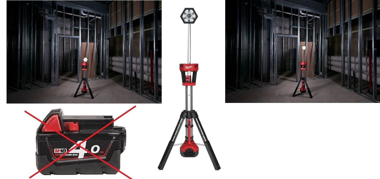 Milwaukee Baustellen-Strahler M18 SAL/0  ohne Akku und Ladegerät  4933451246