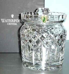 Waterford-Lismore-Biscuit-Barrel-Crystal-Cookie-Canister-Jar-with-Lid-New-In-Box