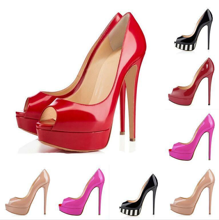 Femmes Platform Stilettos High Heel Open Toe Evening Slip On Pumps Sandals chaussures