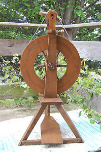 Serena-Sleeping-Beauty-Used-Upright-Spinning-Wheel-Four-Bobbins-Fair-Cond