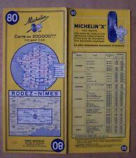 carte MICHELIN 80 RODEZ - NIMES 1964 (exemplaire n° 1)