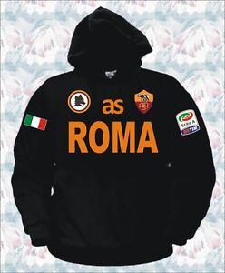 Dettagli su FELPA ROMA t-shirt maglietta totti de rossi borriello osvaldo gago calcio NERA
