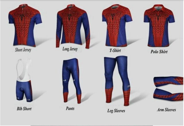 G-LIKE High Visibility Spider-Man Cycling Jersey Running T Shirt Spiderman Tops