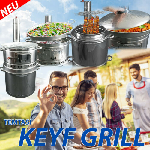 Mangal Tandur Grill Kebab Backofen Holzkohle Tandoori Grillspieß Garten Kebap