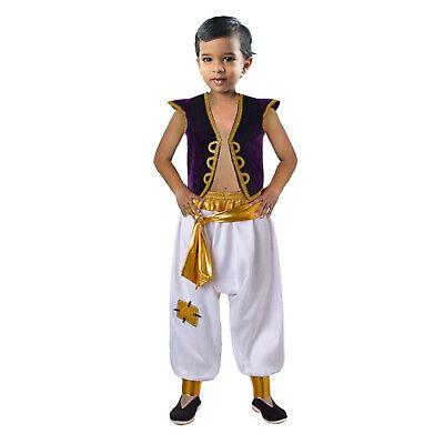 Boys Prince Aladdin Costume Arabian Fancy Dress Kids Disney Outfits Party 4-10 Y