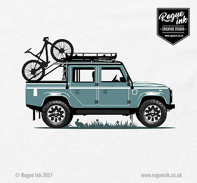 Land Rover Defender 110 Spectre T-Shirt 007 Illustration 100/% Cotton T-Shirt