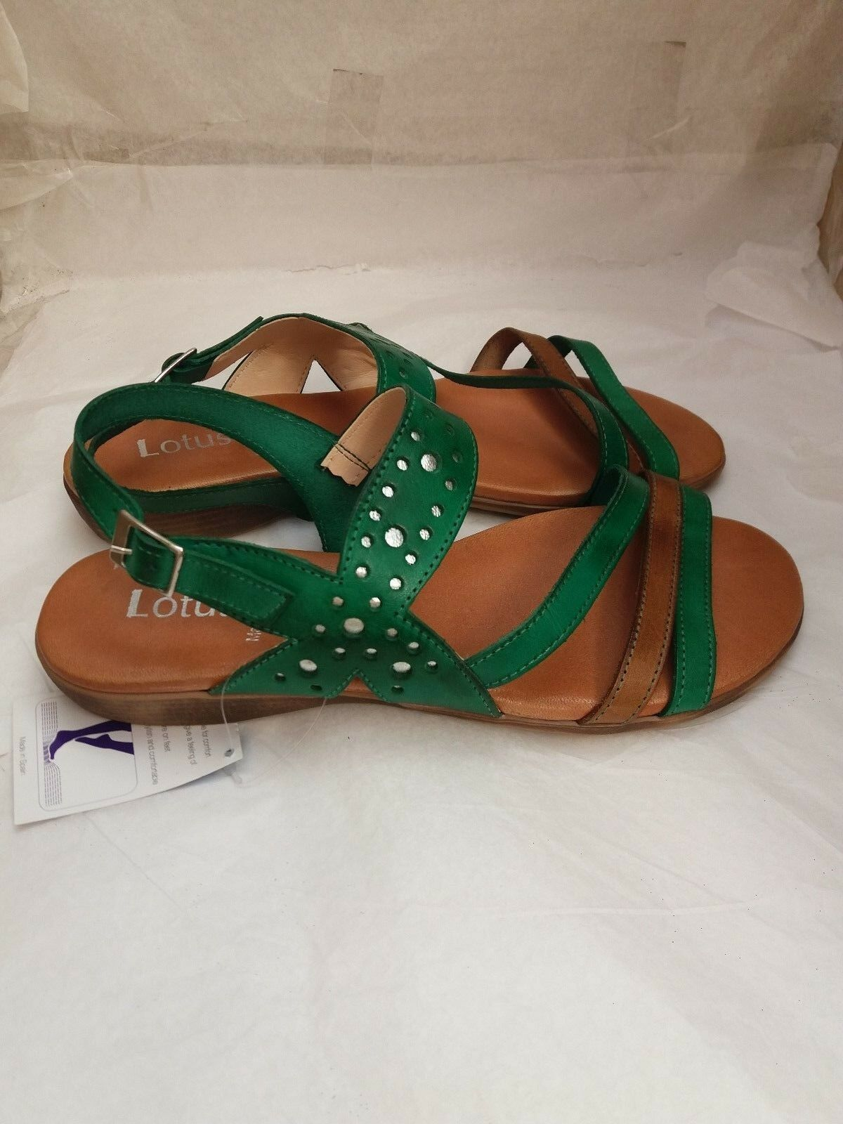 Lotus Gelstep Leather Wedge Sandals UK Size 7 EU 40 New with Tags