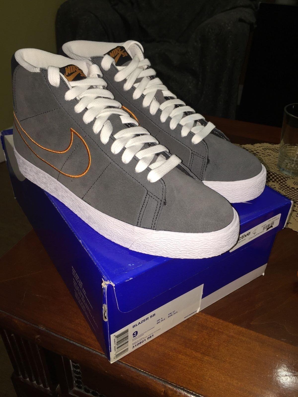 Nike SB blazer dark charcoal ceramic RARE 2009 310801 081 sz 9 11 supreme Jordan