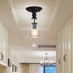 Details About Flush Mount Ceiling Lamp Glass Lights Kitchen Modern Pendant Light Home Lighting