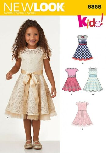 New Look Girls Sewing Pattern 6359 Fit /& Flare Dresses ... Free UK P/&P