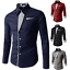 Fashion-Mens-Casual-Shirts-Business-Dress-T-shirt-Long-Sleeve-Slim-Fit-Tops thumbnail 1
