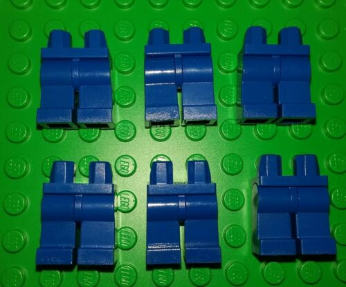 *NEW* Lego Legs Blue Jeans Pants Minifigures Figs People Bulk Spares 6 pieces