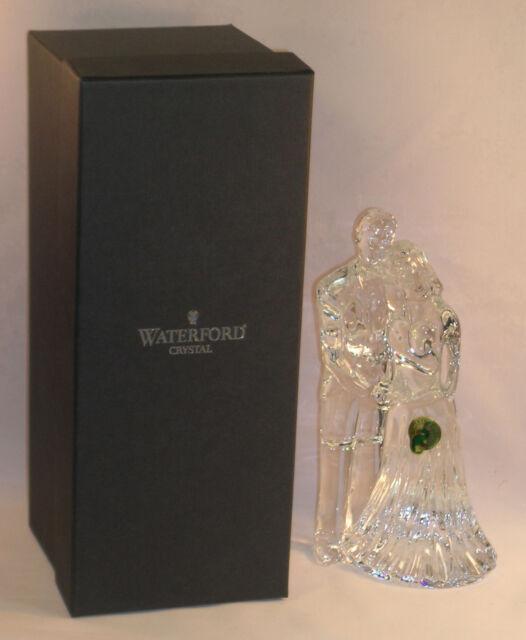 New Waterford Lead Crystal Wedding Couple Bride & Groom Sculpture Figurine Gift