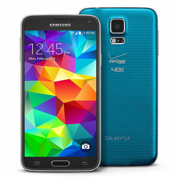 NEW Samsung Galaxy S5 SM-G900V 16GB BLUE Verizon GSM GLOBAL UNLOCKED HAS SHADOW