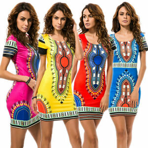 AU-Womens-African-Dashiki-Shirt-Dress-Boho-Hippe-Gypsy-Festival-Tops-Party-Hippe