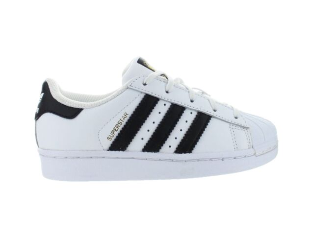 Kids Adidas Superstar Foundation C PS White Core Black Gold BA8378