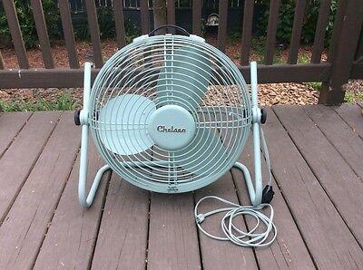 "Chelsea , Antique 19""  2- Speed Round Enclosed Fan , Floor Model"
