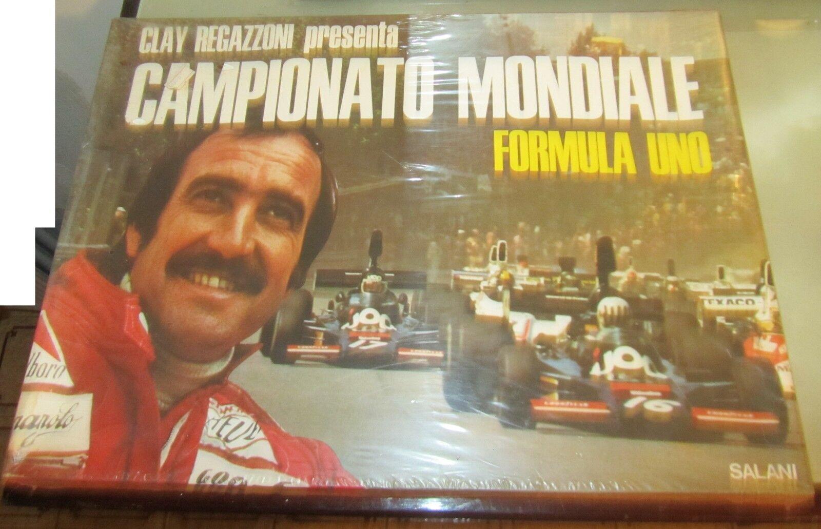 CLAY REGAZZONI presenta Campionato Mondiale FORMULA 1 Salani Uno vintage 1975