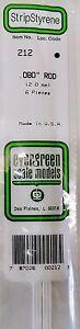 "Intelligent Evergreen Strip Styrene 212 6 X .080"" (2.0 Mm) Rod."