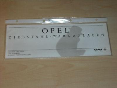 15712) Opel Alarmanlage Prospekt 1992 Harmonische Farben