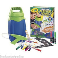 Crayola Deluxe Marker Airbrush Sprayer Kit Fabric Window Washable Markers
