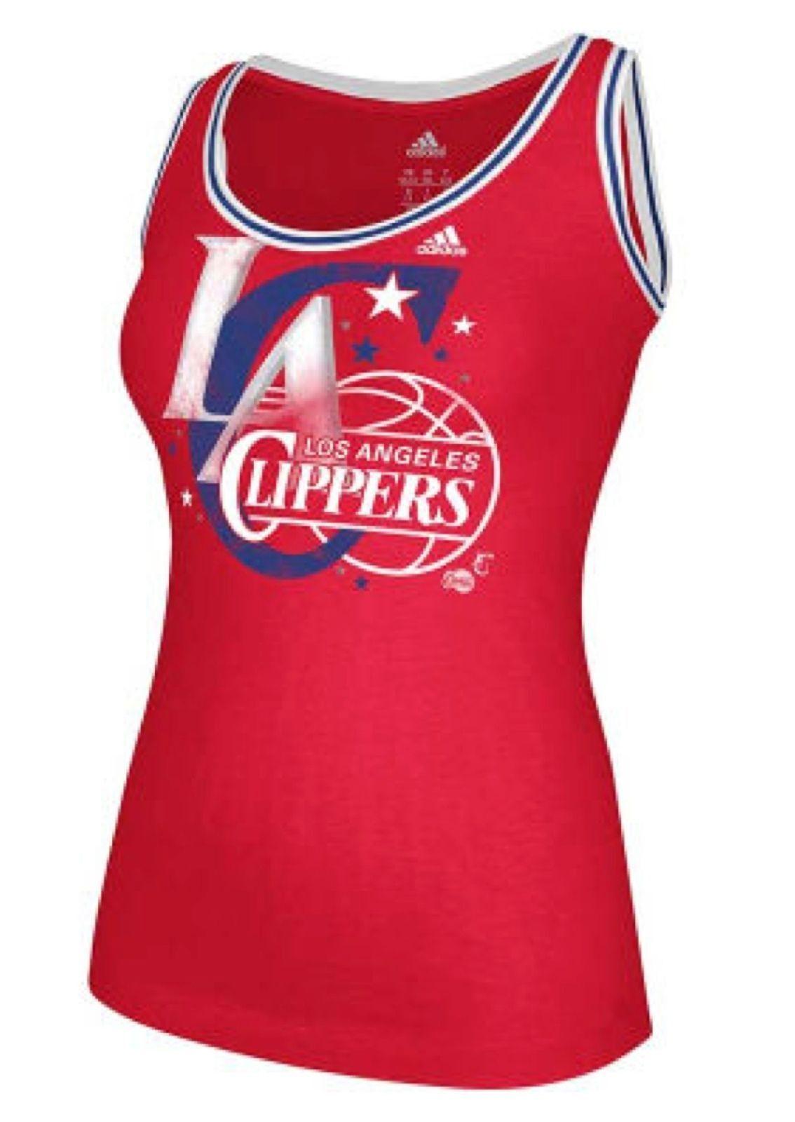 Camiseta sin mangas para mujer Los Angeles Clippers Adidas - Rojo