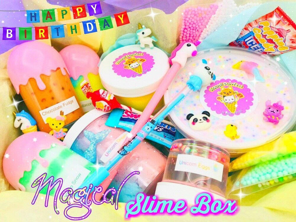 Nontoxic Magical Experience Scented Unique Birthday Slime Box Tons of Free Gifts