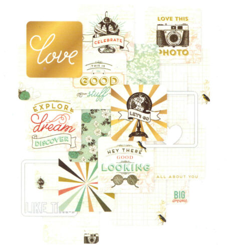 Project Life ADVENTURE 4x4 Specialty Cards 12-Pack scrapbooking 380447 GOLD FOIL