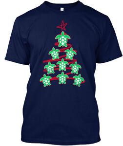 Sea-Turtle-Christmas-Tree-Hanes-Tagless-Tee-T-Shirt