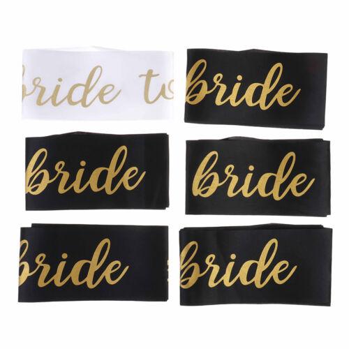 6x Bride To Be Sash Team Bride Satin Sash Hen Night Bridal Shower Party Deco S!