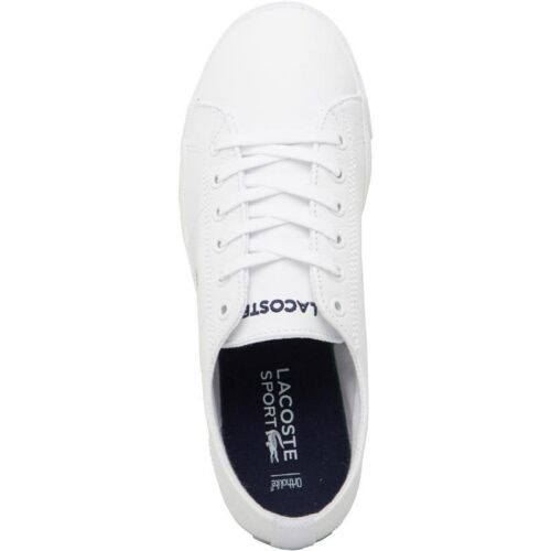 Lacoste Womens Riberac Canvas Trainers White