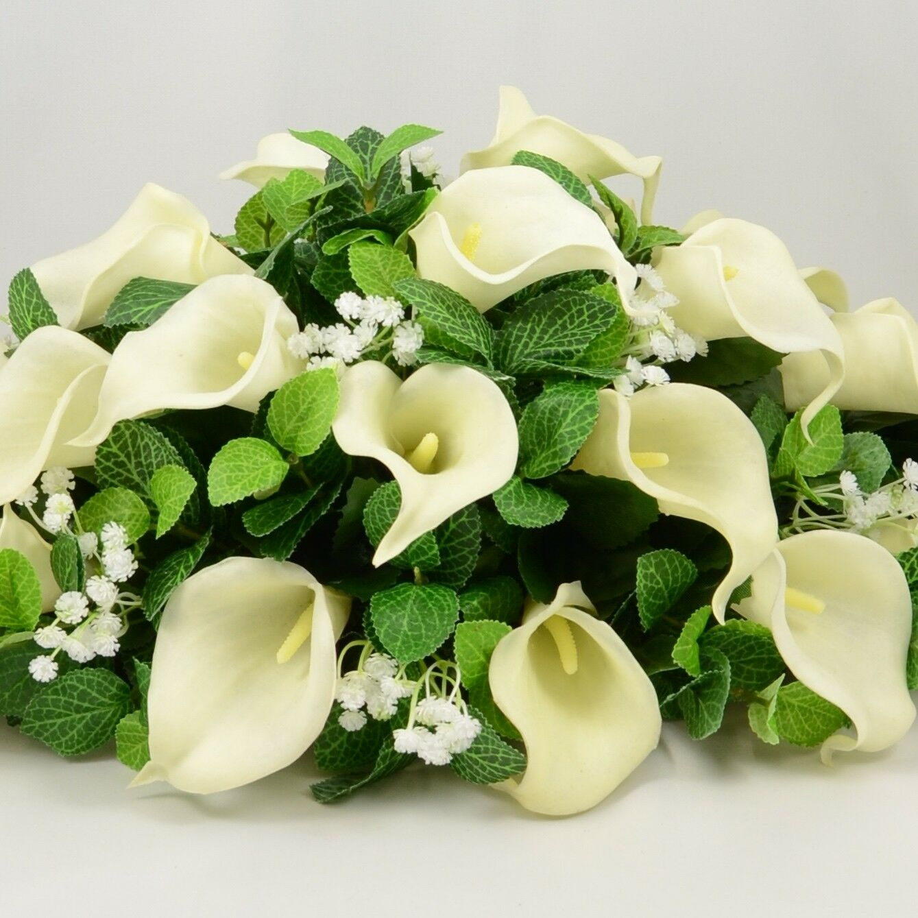 Artificial TABLE Wedding flowers top TABLE Artificial DECORATION arrangeHommes t Ivory Calla Lily c205b8