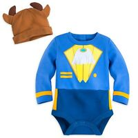 Disney Store Beast Baby Costume Bodysuit & Hat 0-3 Months Beauty And The