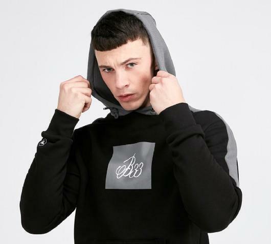 Mens Bee Inspired Kucho OTH Hooded Top Black/Grey (PA1) RRP